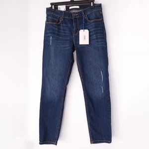 Eunina Franchescas Distressed Skinny Mid Rise jean
